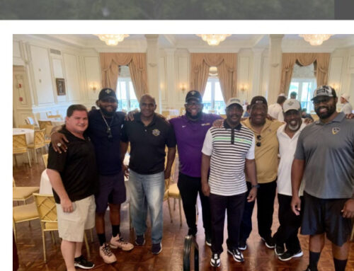 Gulf Coast Chapter Members at Saints Hall of Fame Golf Tournament